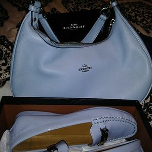Authentic Coach shoulder bag and Coach Loafers